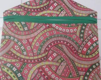 Clothespin bag , Peg Bag, lingerie bag, floral, flowers,