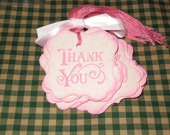 25 Thank You  Shower Gift Tags Labels Cards Mom to be Birthday Baby Gift