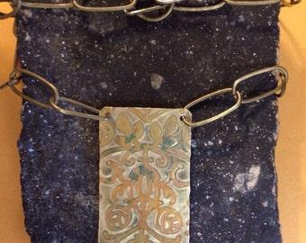 Boho brass necklace