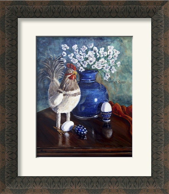 Polish Pottery Vase Chicken Egg Kitchen Wall Decor Still Life