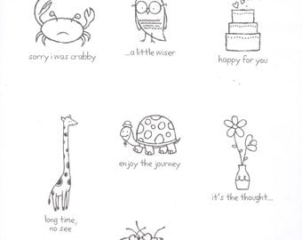 Stampin' Up / Clear Mount Rubber Stamp Set / It's the Thought / Seven Images / Never Been Inked