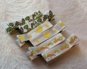 EASTER BUNNY CARROTS  Set of 6 non-slip Fully Lined alligator clip / clippies barrettes Buy 3 sets get 1 free