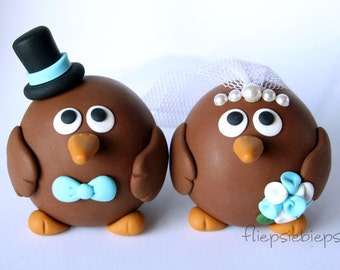 Custom Kiwi Bird Wedding Cake Topper