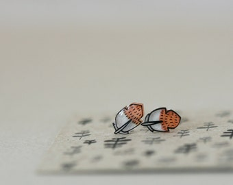 Little Feathers - Earring Studs - Sterling Silver