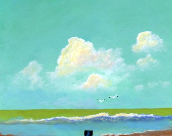 Black Lab Dog Art PRINT Todd Young painting OCEAN MIST