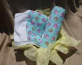 Little Owls Baby Blanket Set