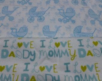 I Love Mommy and Daddy Baby Blankets Set