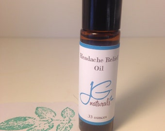 Natural Headache relief oil Pure essential oils