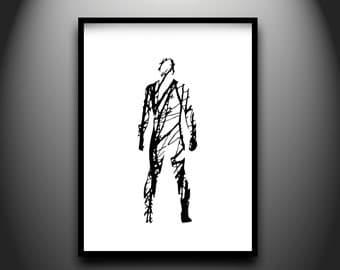 Vir, framed original hand-cut paper art