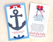 35 Seed Paper Anchors - Nautical Wedding Favors Plantable Paper Anchor Destination Wedding Favors - Personalized Cards - Template Option