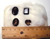 clearance 4 Faceted Smoky Quartz
