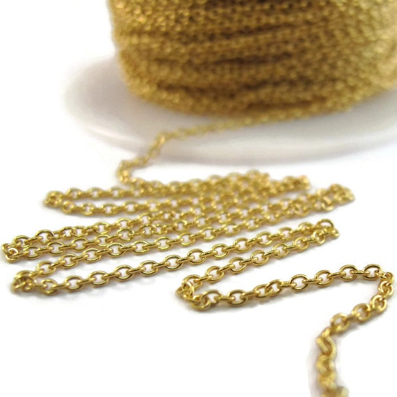 5 Feet of Thin Gold Filled Chain, 1.1mm Woven Cable Chain, Awesome Gold Chain for Making Jewelry (FSgf13030f)