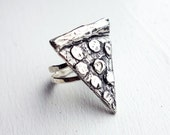 Sterling Silver Pepperoni Pizza Ring- Handmade by Rachel Pfeffer