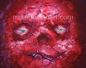 Demon Crackhead 3D painting by Mike Boston