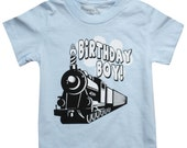 Kids BIRTHDAY BOY Choo Choo Train T-shirt