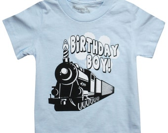 Kids BIRTHDAY BOY Choo Choo Train T-shirt