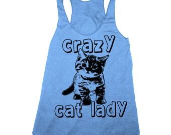 Womens CRAZY CAT LADY Tank Top