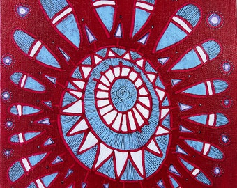 Mandala: Spoke Original Painting Meditation Art