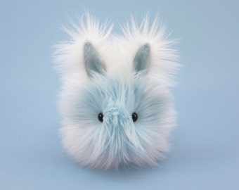 Stuffed Bunny Stuffed Animal Cute Plush Toy Bunny Kawaii Plushie Snowflake the White and Ice Blue Bunny Rabbit Cuddly Toy Small 4x5 Inches