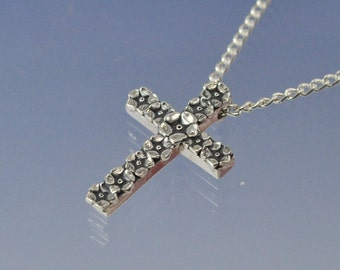 Forget Me Not Cross Sterling Silver