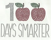 PRIORITY shipping - diy 100 DAYS SMARTER iron on rhinestud transfer by 1286 Kids (formerly Daisy Creek Designs)