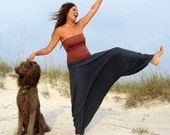 Organic Harem Pants - ( light hemp and organic cotton knit ) - Organic HEMP harem