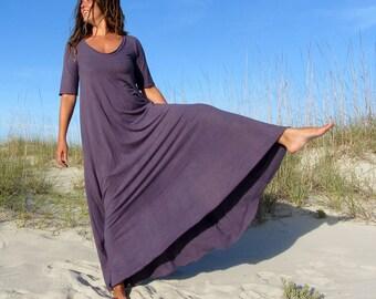 ORGANIC Ritual Wanderer Long Dress (light hemp/organic cotton knit) - organic dress