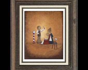 Whimsical Lowbrow Art Print - Sweeney Todd  -- Demon Barber -- 8x10 -- Notorious Character