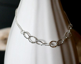 "SALE! - sterling silver mixed chain bracelet - ""thelma"" silver bracelet by elephantine"