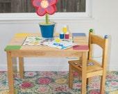 "Splat Mat/Tablecloth ""Brassica Pastel"" - Laminated Cotton BPA  & PVC Free - Choose Your Size below!"