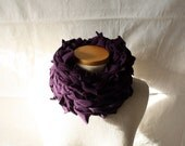 ready to ship // neck scarf / plum purple / by replicca / one size