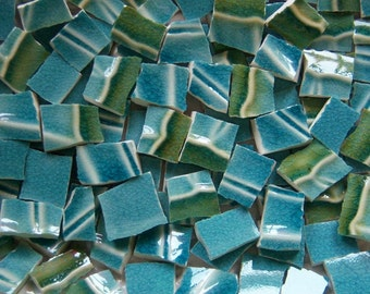 Mosaic Tiles--Caribbean Waterfalls--100 Tiles