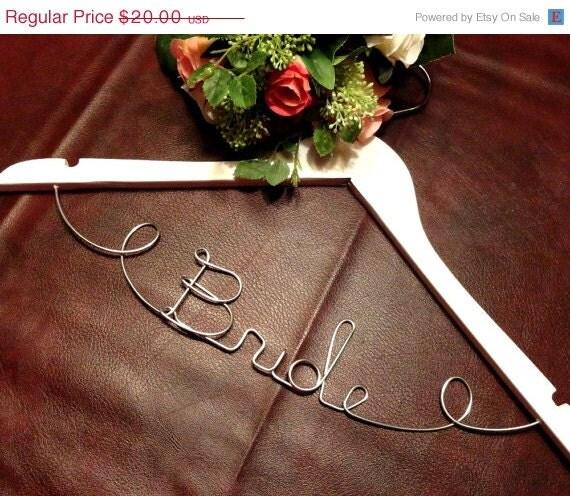 Surprise Sale Personalized Bridal Wedding Hanger Bridal: Bride Wire Hanger Wedding Coat Hangers By OriginalBridalHanger
