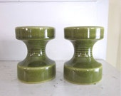 Steuler Candle Holders - Cari Zalloni - West Germany - Olive Green - 148/10