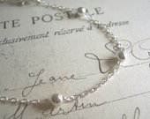 Delicate Silver chain bracelet - beautiful jupiter chain for layering - SALE