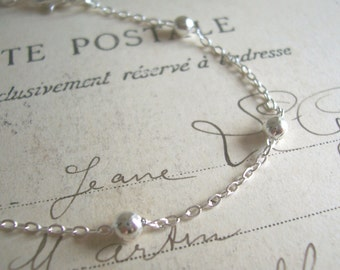 Delicate Silver chain bracelet - beautiful jupiter chain for layering - nickel free