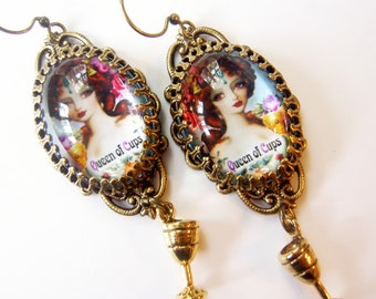 Queen of Cups - The Artist and Seducer - Tarot Earrings