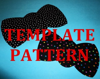 Fabric Applique PDF TEMPLATE Pattern Only...Bowtie Bow Tie....2 SIZES...New
