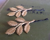 Vintage Golden Branch Bobby Pins