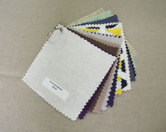 Interior Designer Fabric Sample Pack,  NikkiDesigns, Hemp, Organic Cotton, Linen, Silk
