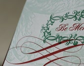 50 Christmas Cards, Letterpress Be Merry