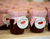 Personalized Jam or Jelly Labels - Spread the Love - Circles / DIGITAL FILE