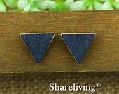 Buy 1 Get 1 Free - 20pcs 17mm Triangle Handmade Photo Wood Cut Cabochon   -- HWC203M