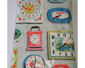 """Kindle Fire 7"""" HD HDX or Google Nexus Samsung Galaxy Tablet Zippered Pouch Sleeve Case Cover with Zipper Cath Kidston Clocks PVC Clock"""