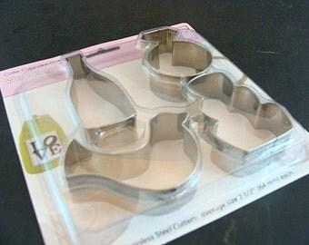 Cutie Cupcake Cutters - Wedding -  Fondant Cutter, Cookie Cutter