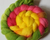 Hand dyed Merino Wool Top for Spinning (4 ounces)