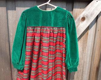 80s Plaid Dress Girls 5