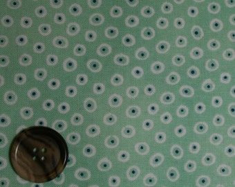 Aunt Lindy's Paper Dolls by Blue Hill - Dots and Circles in Green - B7171-5 By the fat quarter or Half Yard