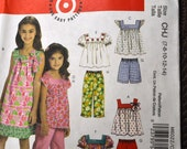 Sewing Pattern McCall's 6022 Girls' Dress Pants Shorts Tops Size 7-14 Complete