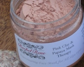Pink Clay and Papaya - Mask Therapy - Rejuvenating Face Mask For All Skin Types